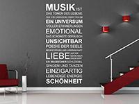 Wandtattoo Musik ist...