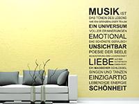 Wandtattoo Musik ist... im Wohnzimmer