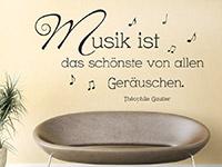 Wandtattoo Musik ist das schönste...