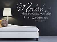 Musik Wandtattoo Musik ist das schönste... in weiß