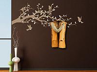 Wandtattoo Garderobe bunter Ast mit Vögeln | Bild 2