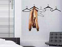Garderoben Wandtattoo Kleiderbügel im Schlafzimmer