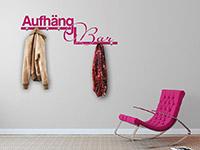 Garderoben Wandtattoo AufhängBar in pink