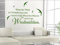 Wandtattoo Wenn der Wind...  im Wohnzimmer