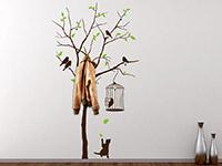 Wandtattoo Garderobe Baum mit Vögeln | Bild 3