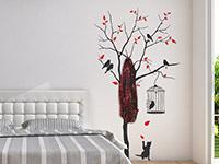 Wandtattoo Garderobe Baum mit Vögeln | Bild 4