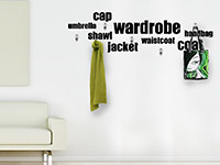 Wandtattoo Garderobe Wardrobe im Wohnzimmer