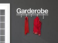 Wandtattoo Garderobe Modern in weiß im Flur