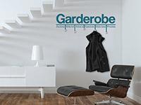 Garderoben Wandtattoo Modern in türkis