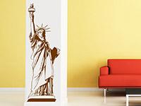 Wandtattoo Freiheitsstatue im Wohnzimmer