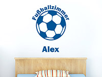 Wandtattoo Fußballzimmer mit Name