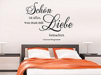 Wandtattoo Schön ist alles... Zitat im Schlafzimmer