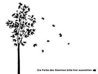 Wandtattoo Zweifarbiger Ahornbaum Motivansicht