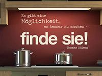 Edison Zitat Wandtattoo Es gibt eine Möglichkeit ... in der Küche
