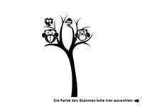 Wandtattoo Baum mit Eulen Motivansicht