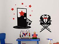 Filmeulen Wandtattoo im Kinderzimmer