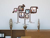 Wandtattoo Moderne Fotorahmen auf heller Wandfläche in braun