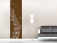 Musik Wandtattoo Banner Music was my first...  im Wohnzimmer