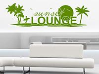 Wandtattoo Sunset Lounge im Wohnzimmer