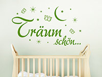 Wandtattoo Träum schön im Kinderzimmer