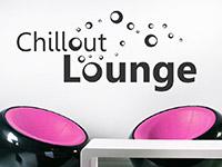 Lounge Wandtattoo Chillout Lounge Retro auf hellem Hintergrund
