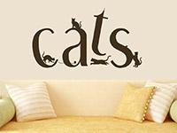 Cats Wandtattoo im Wohnzimmer