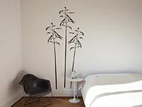 Wandtattoo Wiesengräser im Schlafzimmer