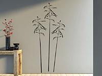 Stilvolles Wiesengräser Wandtattoo in schwarz