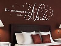 Sterne Wandtattoo Die schönsten Tage... über dem Bett