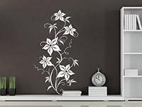 Pflanzen Wandtattoo Blühende Ranke in weiß