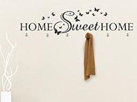 Wandtattoo Garderobe Home Sweet Home im Flur