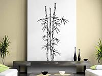 Wandtattoo Bambuspflanze in schwarz im Wohnzimmer