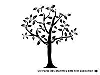 Wandtattoo Baum mit Blüten und Vögeln Motivansicht