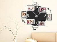 Wandtattoo Uhr mit Fotorahmen | Bild 2
