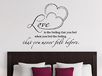 Wandtattoo Love is the feeling ...