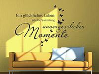 wunderchönes Wandtattoo unvergessliche Momente über der Couch
