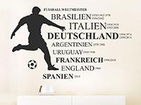 Wandtattoo Fußball Weltmeister
