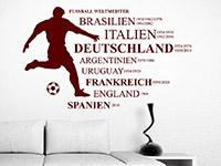 Wandtattoo Fußball Weltmeister im Wohnzimmer