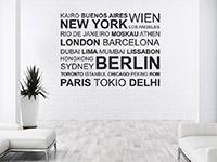 Metropolen Wandtattoo Städte als dekorative Wandgestaltungsidee