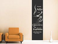 Wandtattoo Banner Kaffeesorten