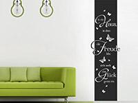 Wandtattoo Banner In ein Haus... im Wohnzimmer