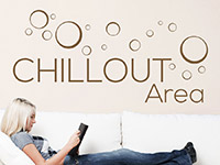 Wandtattoo Chillout Area