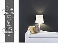 Wandbanner Träume auf hellem Hintergrund