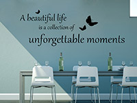 englicher Wandtattoo Spruch unforgettable moments