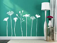 Wandtattoo Verspielte Wiesen Blumen | Bild 3