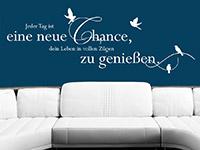 Sprichwort Wandtattoo Eine neue Chance als stylische Wanddekoration