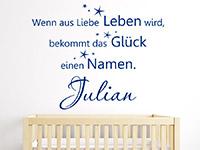 Baby Wandtattoo Wenn aus Liebe... im Kinderzimmer