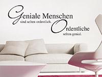 Wandtattoo Geniale Menschen... Spruch als originelle Wohnzimmer Wanddekoration