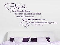 Wandtattoo Liebe besteht nicht darin...  im Schlafzimmer