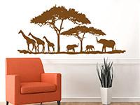 Wandtattoo Savanne mit Bäumen